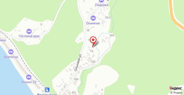 Гостиница Райский уголок на карте