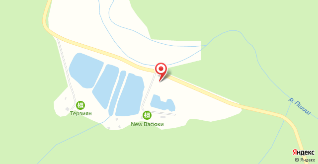 База отдыха New Васюки на карте