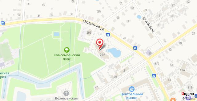 Гостиница Московский тракт на карте