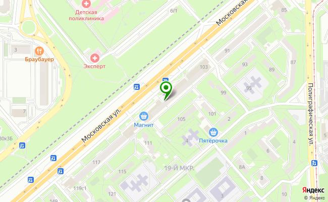 Сбербанк Липецк ул. Московская 103 карта