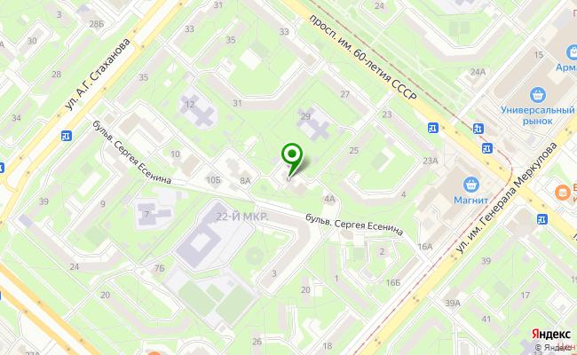 Сбербанк Липецк бульвар Есенина 6 карта
