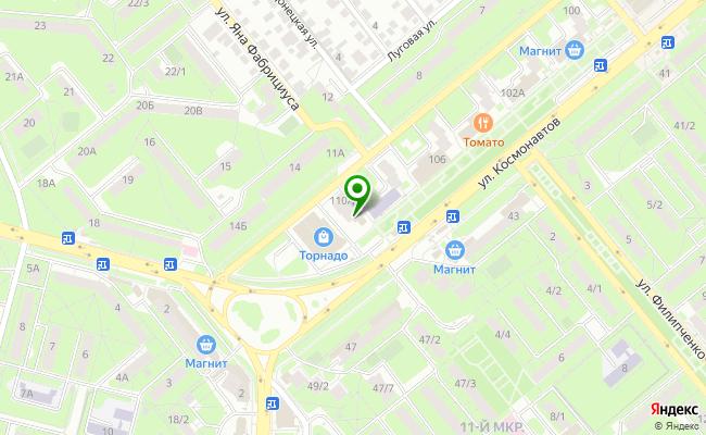 Сбербанк Липецк ул. Космонавтов 110А карта