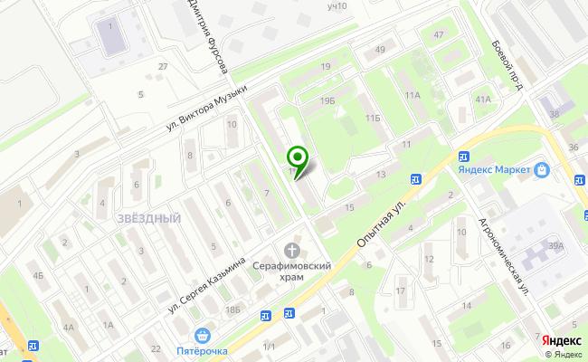 Сбербанк Липецк ул. Опытная 17 карта
