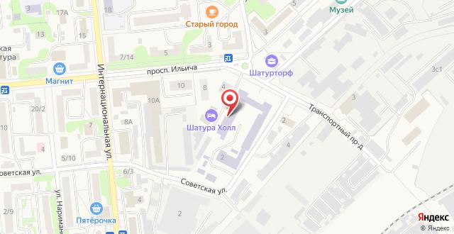 Отель Shaturaholl на карте