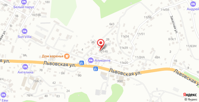 Вилла Лиза на карте