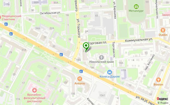 Сбербанк Липецк площадь Торговая 2 карта