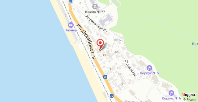 Отель Дивноморье на карте