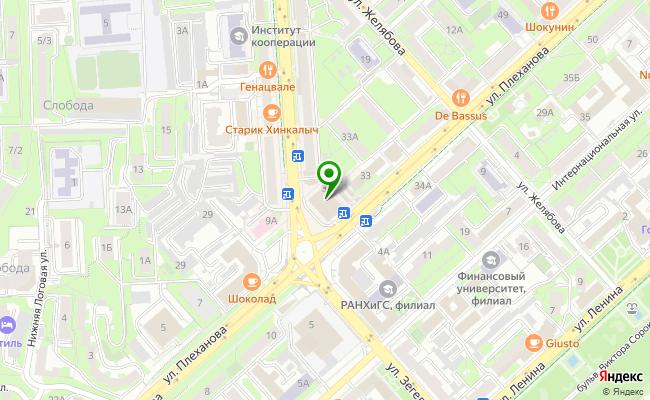 Сбербанк Липецк площадь Плеханова 3 карта