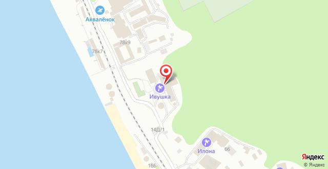 Санаторий Ивушка на карте