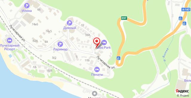 Гостевой дом Турмалин на карте