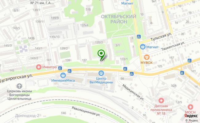 Сбербанк Ростов-на-дону Октябрьский район, ул. Таганрогская 135 карта