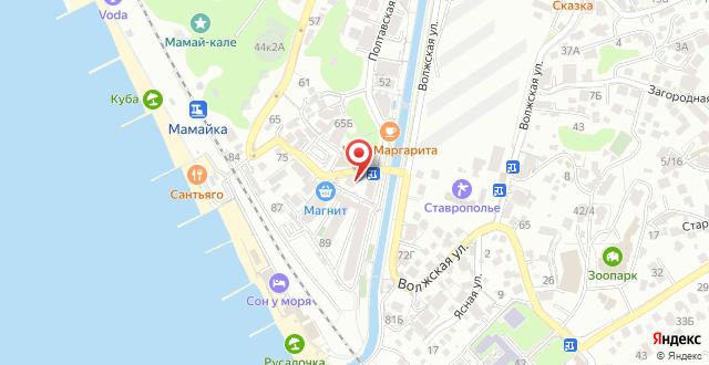 Гостиница Мамайка на карте