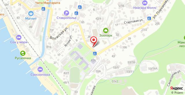 Санаторий Октябрьский на карте