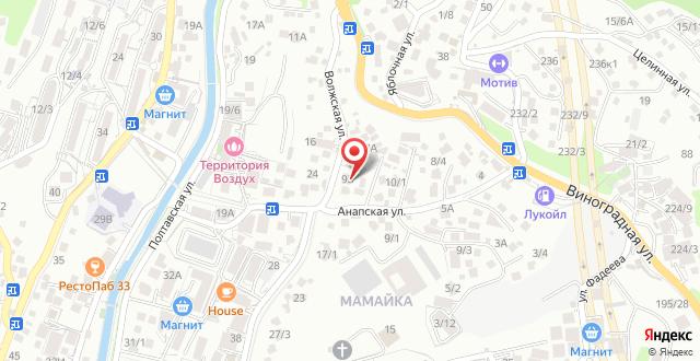 Гостевой дом Завтра в Сочи на карте