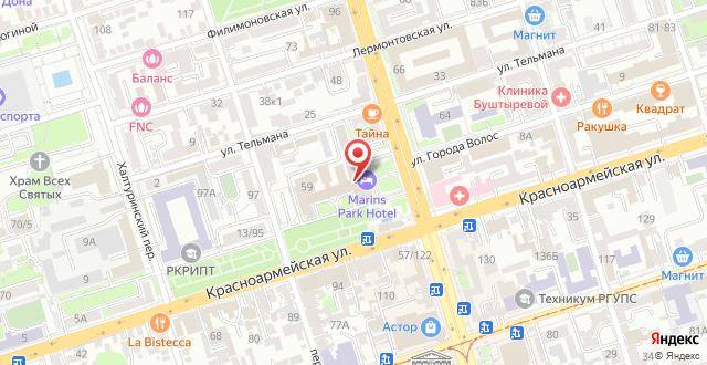 Маринс Парк Отель Ростов-на-Дону на карте