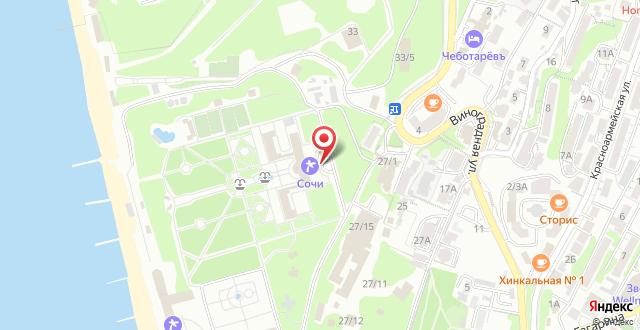 Санаторий Приморский на карте