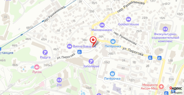 Гостиница Роза Ветров на карте