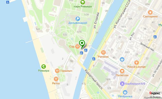 Сбербанк Сочи ул. Егорова 1, корп.А карта