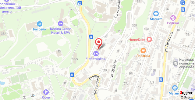 Отель Чеботаревъ на карте