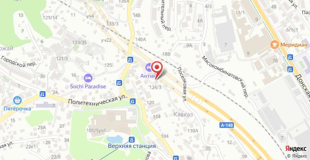 Гостиница Антика на карте