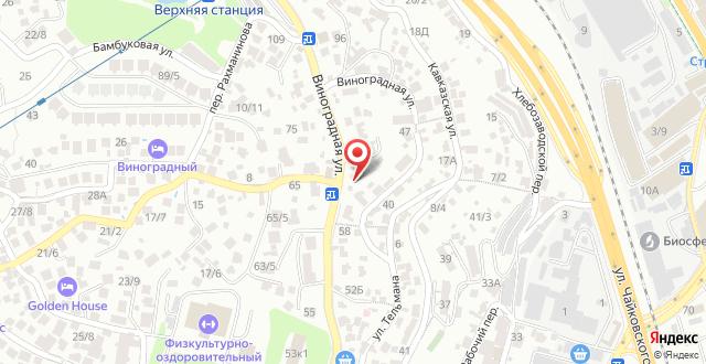 Гостиница Виноград на карте