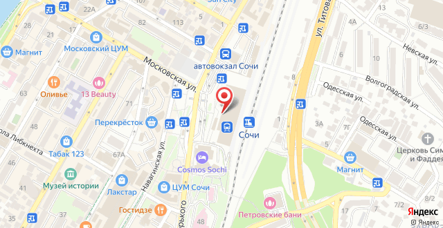 Гостиница Park Inn by Radisson Sochi City Centre на карте