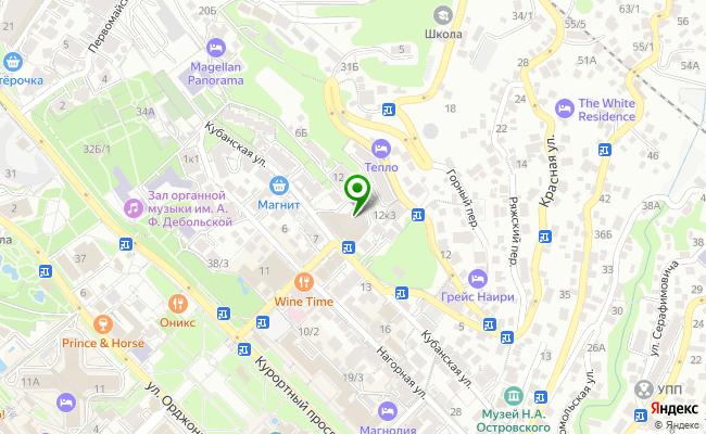 Сбербанк Сочи ул. Кубанская 12, корп.Б карта