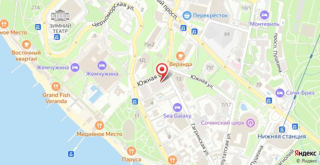Санаторий Светлана на карте