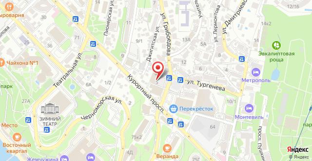 Апартаменты Студия на Джигитской на карте