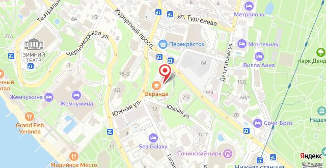 Апарт-отель Светлана на карте