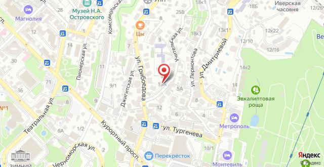 Гостиница Разин на карте