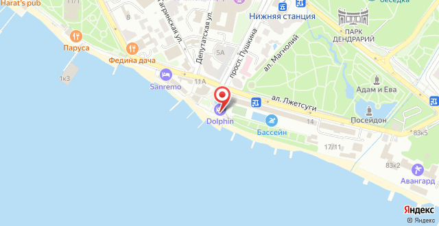 Dolphin Resort Hotel & Conference на карте