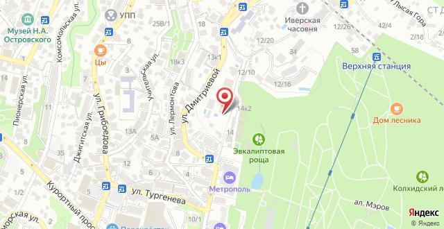Отель Подмосковье на карте
