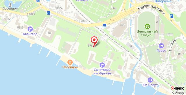 Санаторий Фрунзе на карте