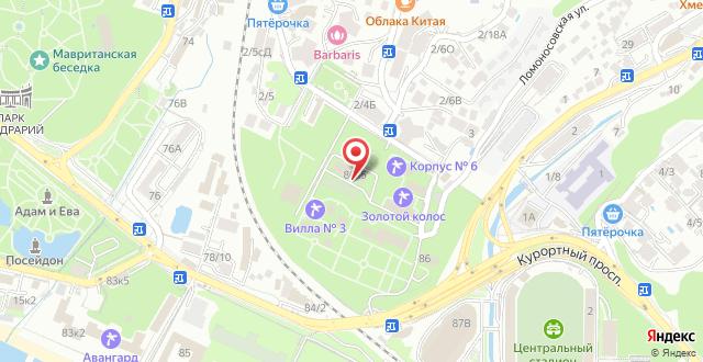 Санаторий Золотой колос на карте