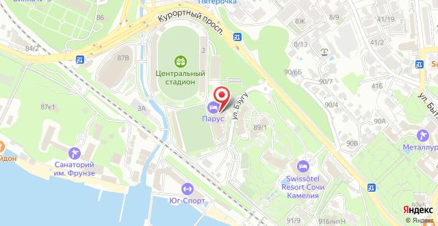 Гостиничный комплекс Парус на карте