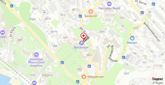 Санаторий Металлург на карте