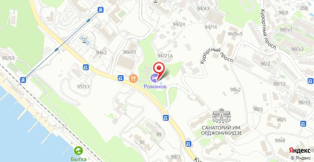 Гостиница Романов на карте