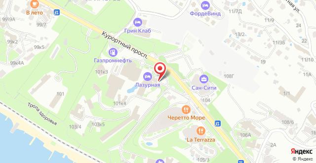 Отель Radisson Lazurnaya на карте