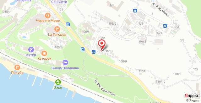 Гостевой дом Курортный на карте