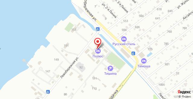 Отель Полюс на карте