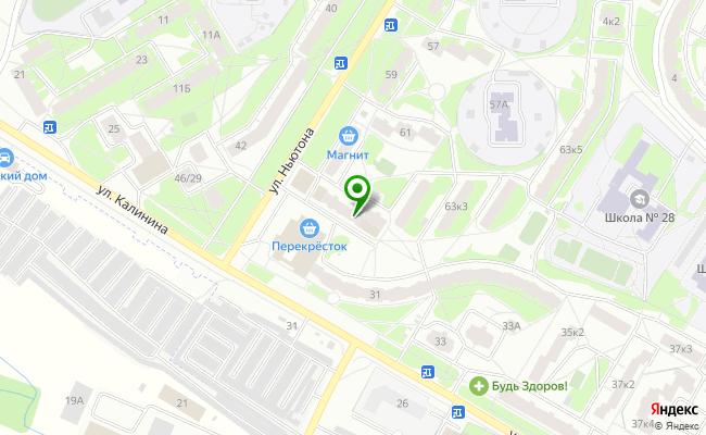 Сбербанк Ярославль ул. Ньютона 65 карта