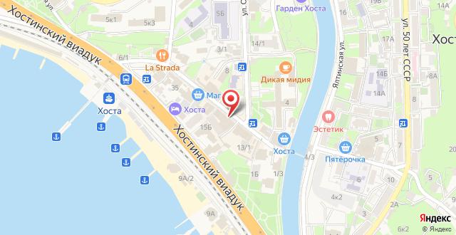 Отель Green Hosta на карте