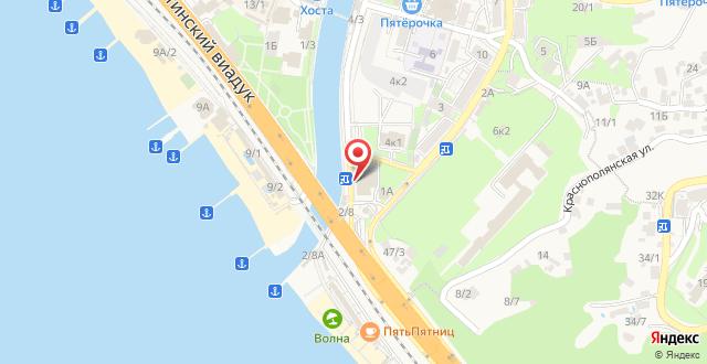 Пансионат Аквамарин на карте