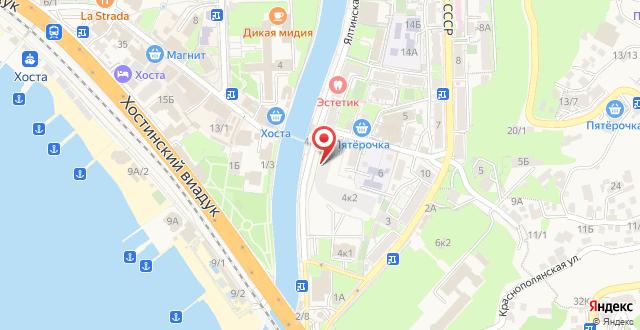 Курортный отель Кристалл на карте