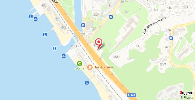 Апартаменты на Железнодорожной 47а на карте
