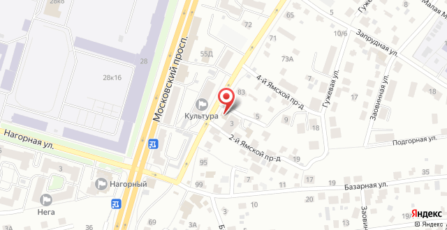 Отель Дуэт на карте