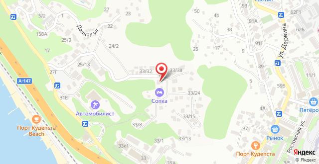 Гостевой дом Sopka на карте