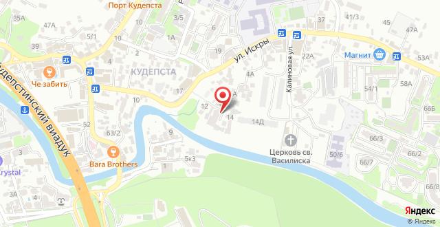 Гостевой дом Удача на карте