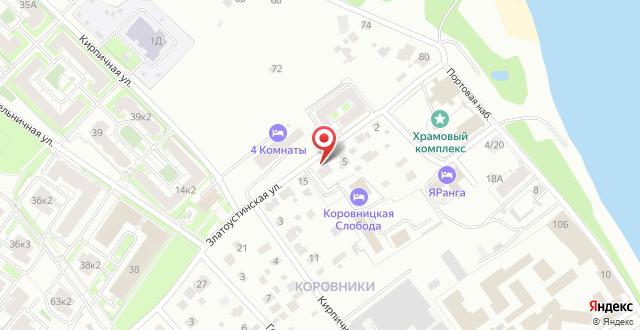 Отель Коровницкая Слобода на карте